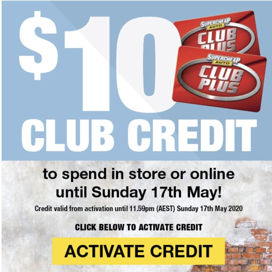 Free 10 club credit sca membership required no min