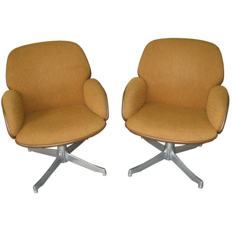 warren platner furniture. pair of chairs labled warren platner steelcase circa 1965 usa furniture