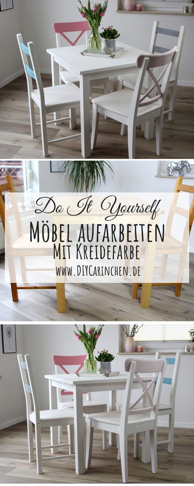 DIY: Alte Möbel aufarbeiten / upcyclen und neu streichen mit Kreidefarbe #gesso