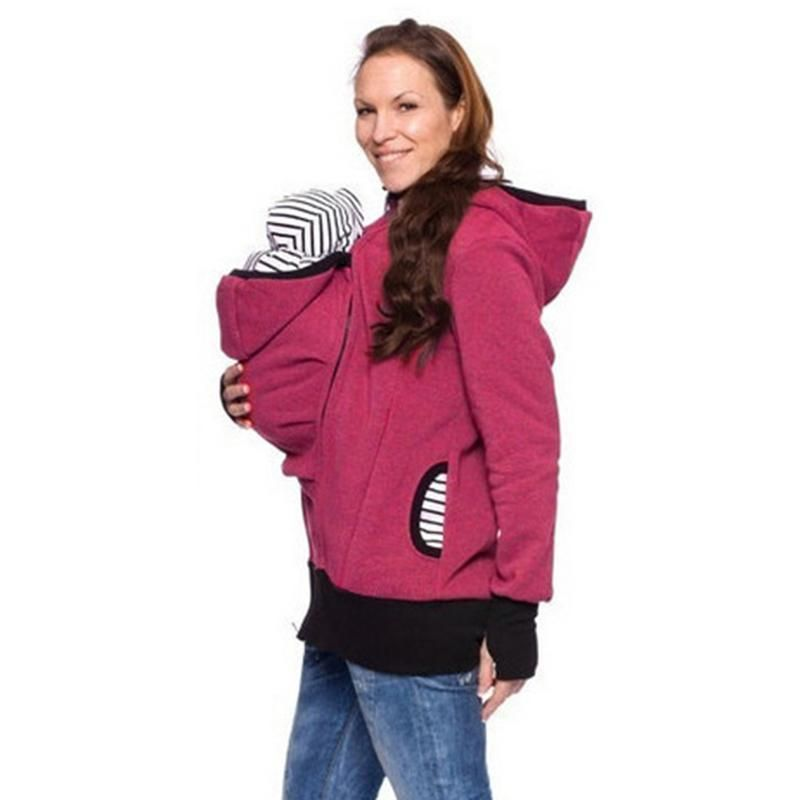 Women Kangaroo Hooded Sweatshirt Baby Carrier  65d685323e