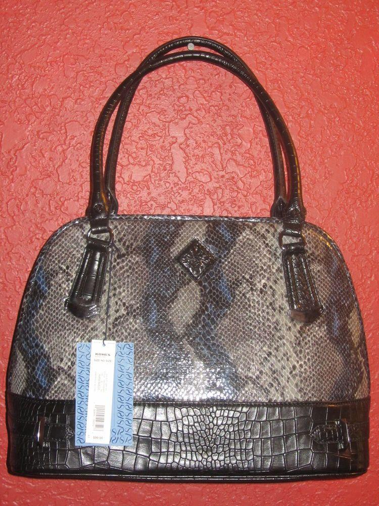 5012ff6c6aa3 SIMPLY VERA WANG NWT $99 women's purse MOROCCO SATCHEL estate grey python  #guccigang #carrying #louisvatton #handbag #wearing
