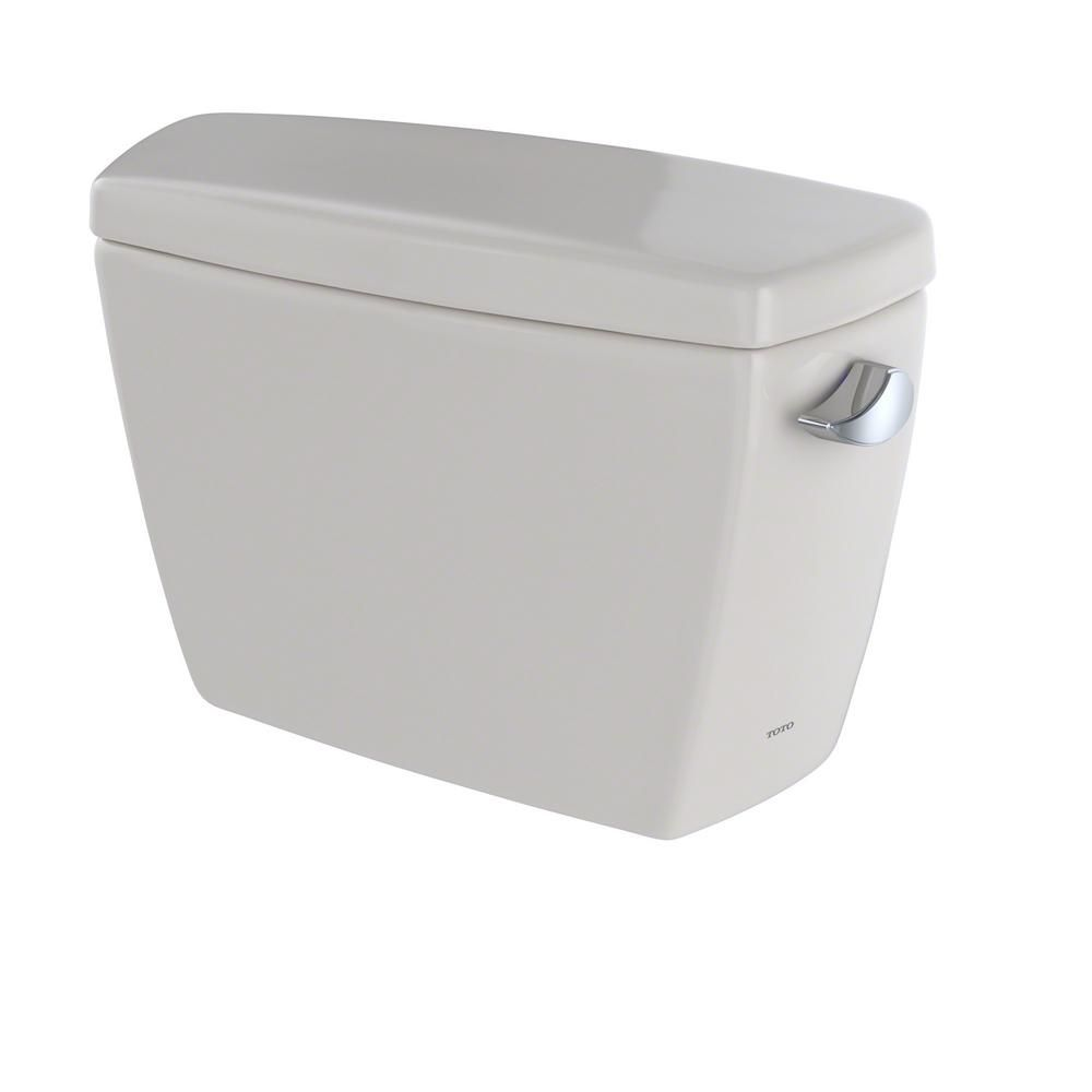 toto drake 16 gpf single flush toilet tank only with right hand trip lever in