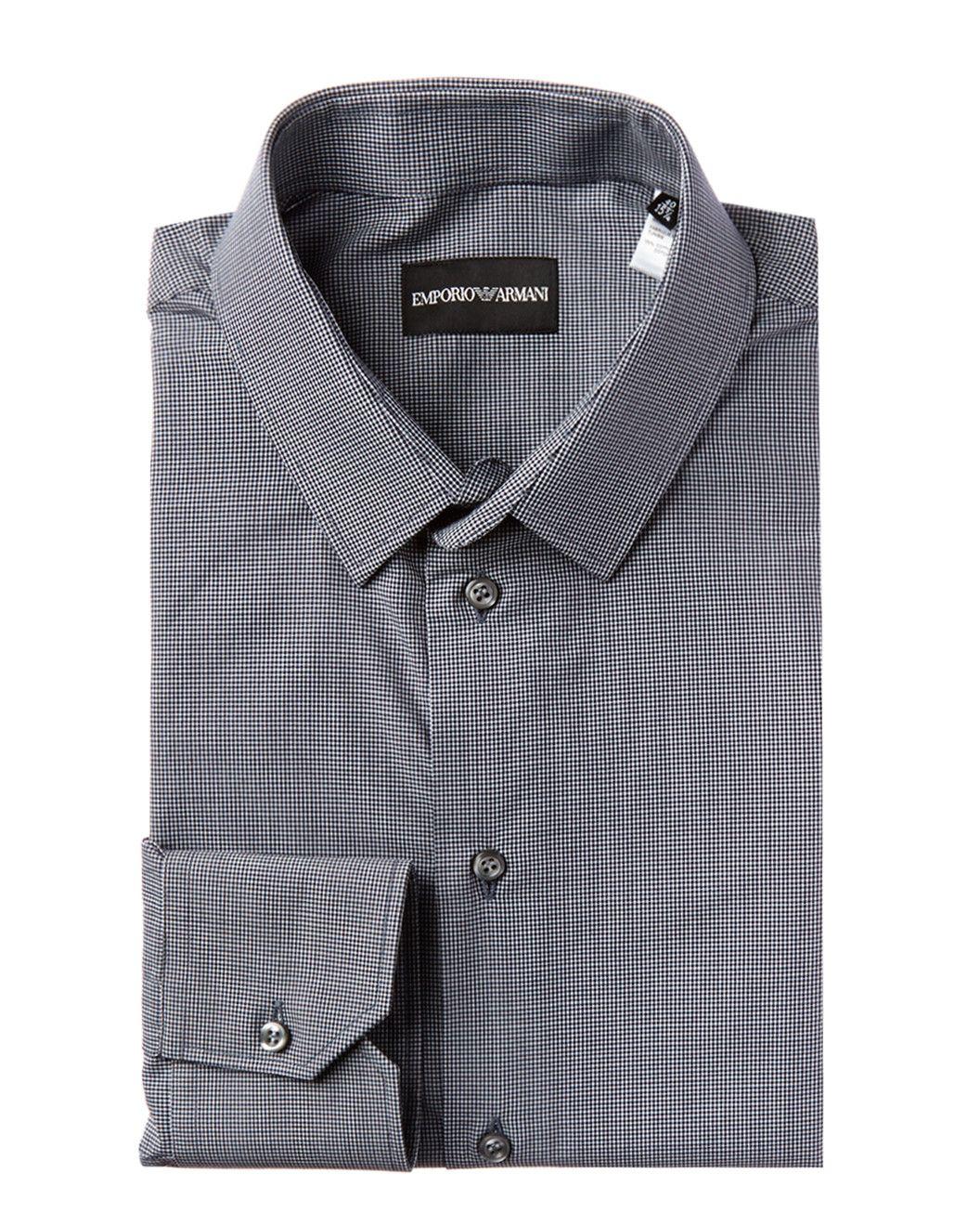 Black And White Checkered Dress Shirt