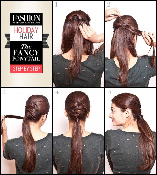 Holiday Hair Tutorial Fancy Ponytail Step By Step Fancy Ponytail Hair Styles Diy Hairstyles