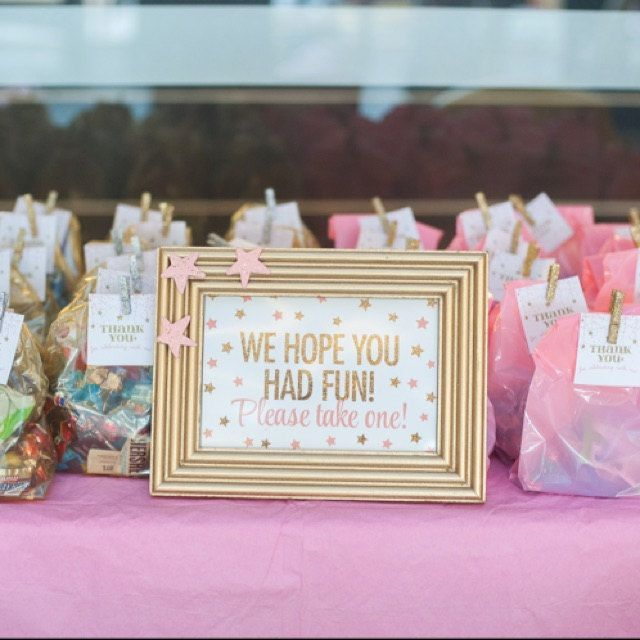 Party Favor Sign We Hope You Had Fun Please Take One Blush Pink