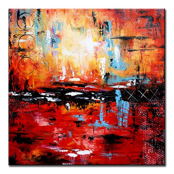 Contemporary wall art Large abstract Canvas by
