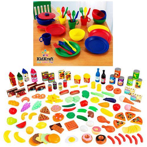KidKraft Kitchen Play Set U0026 Tasty Treats 125 Piece Food Value Bundle: Toy  Value Bundles