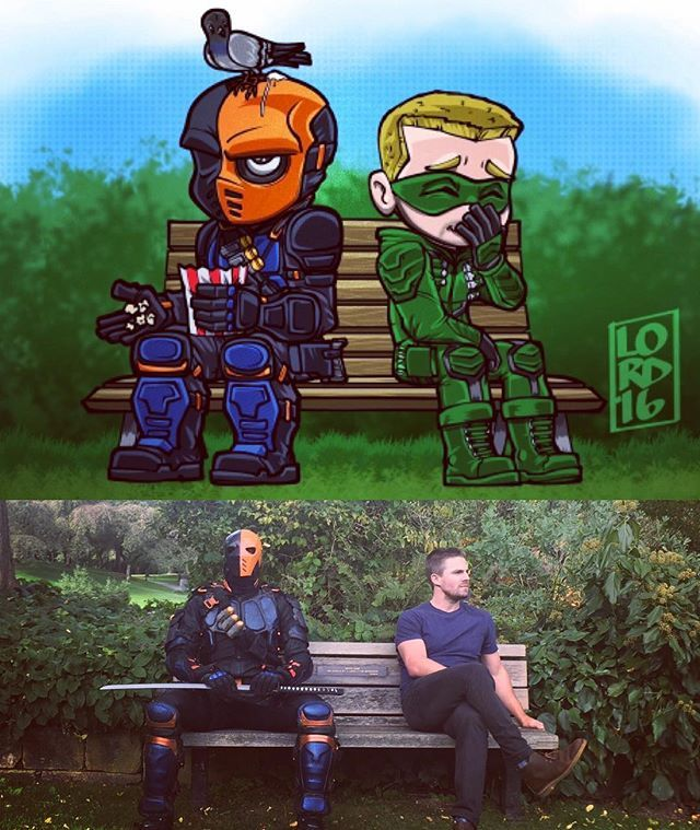 Benchwarmers Stephenamell Manubennett Lord Mesa Art Arrow Memes Arrow Tv
