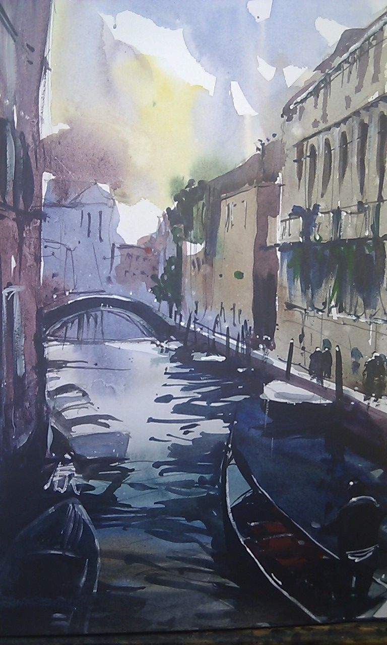 Venice Canal San Polo district #watercolor #venice #canal