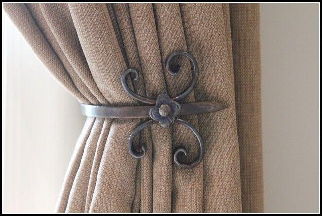 Black metal curtain tie backs abrazaderas de cortinas cortinas cortinas metalicas y - Cortinas metalicas decorativas ...