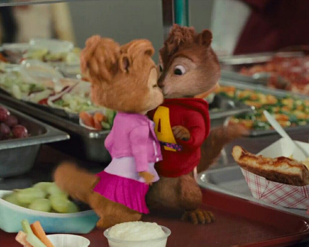 Alvin And The Chipmunks Alvin And Brittany i just want a kiss from you | alvin, chipmunks movie