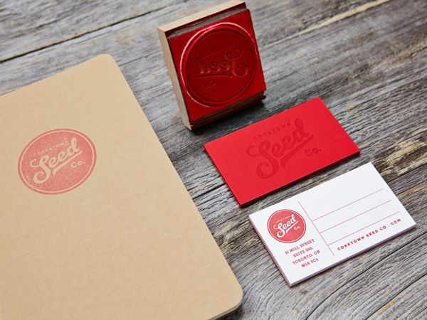 Business card inspiration 4 business cards business and logo business card inspiration stamp red logo branding stationary art reheart Images