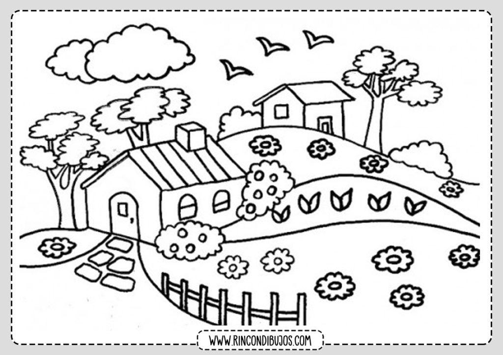 Dibujos De Paisajes Para Colorear Paisajes Bonitos Para Pintar Dibujos Para Colorear Paisajes Paisaje Para Colorear Paisajes Dibujos