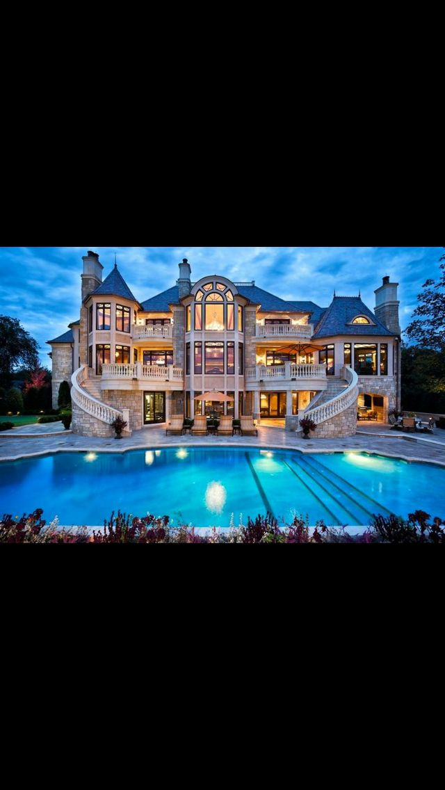 Big Beautiful Mansions With Pools mediterranean mansion home | modern homes | pinterest | dream mansion