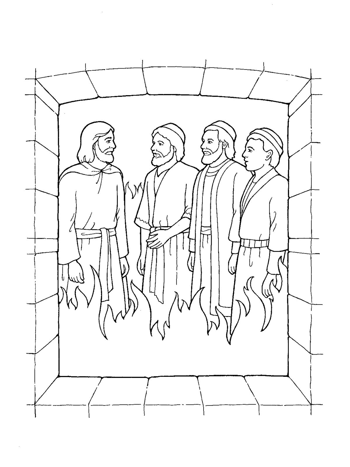 Shadrach Meshach And Abednego Black White Clipart
