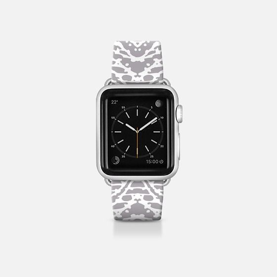 Tribal coral Apple watch bands, White apple watch band