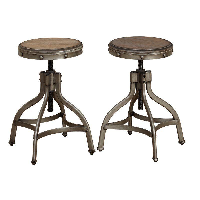 Marvelous Adalgar Adjustable Height Swivel Bar Stool Bar Counter Dailytribune Chair Design For Home Dailytribuneorg