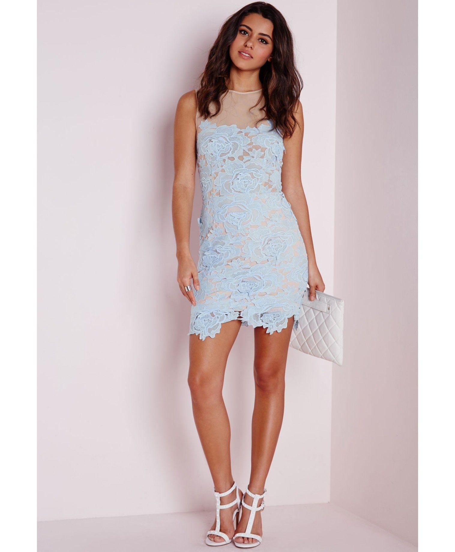Asos Sukienka Niebieska Koronka 8 Uk 36 Evening Dresses Lace Dress Dresses