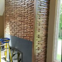 Fireplace Textured Wood Covering Surround Wall Coverings Ducau