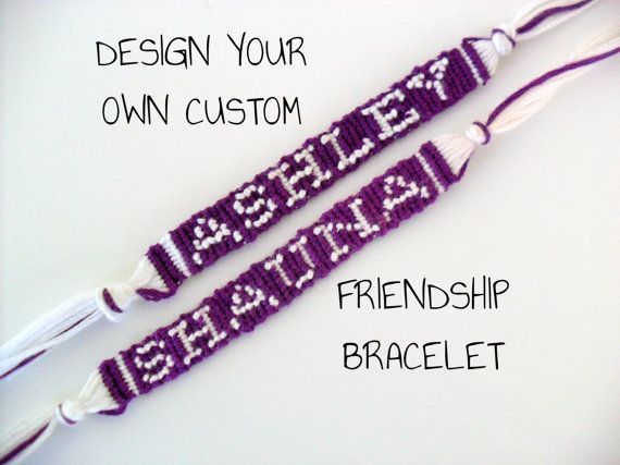 Help out their teachers by getting them custom friendship bracelets with their names
