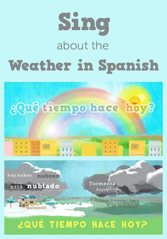 Wonderful Song With Spanish Weather Expressions Great Music Kids Love It And Learn Spanish Too Learning Spanish Spanish Weather Spanish Learning Activities