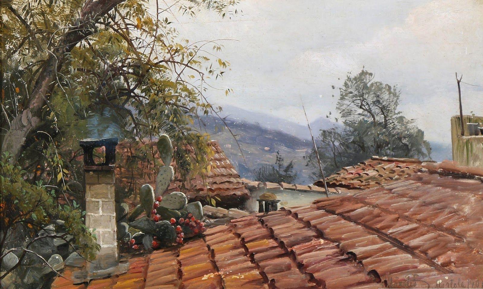 Mediterrane Gemälde peder mork mønsted
