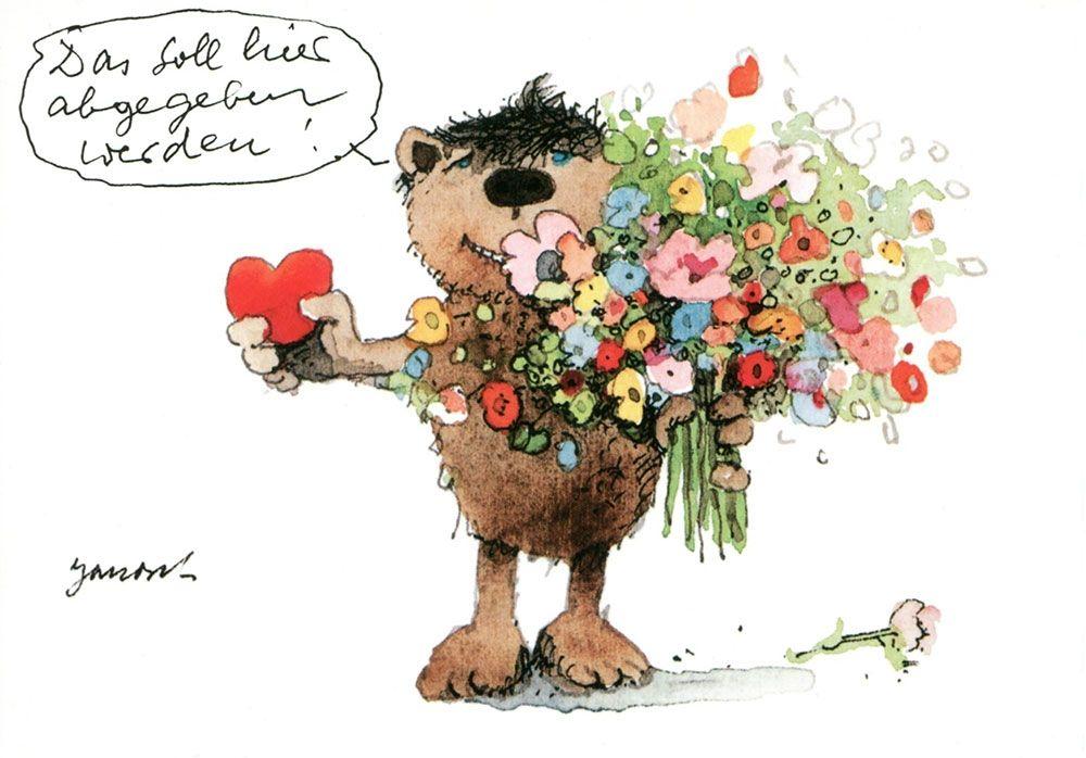 Janosch POSTkarte Geburtstag Total gro/ßen Gl/ückwunsch