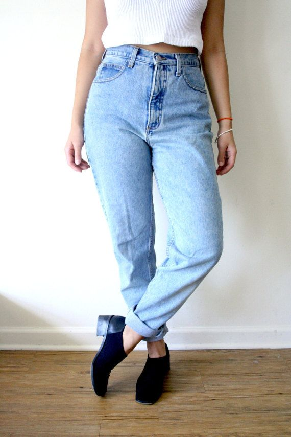 80s GUESS High Waisted Tapered Jeans, Skinny Jeans, Boyfriend ...