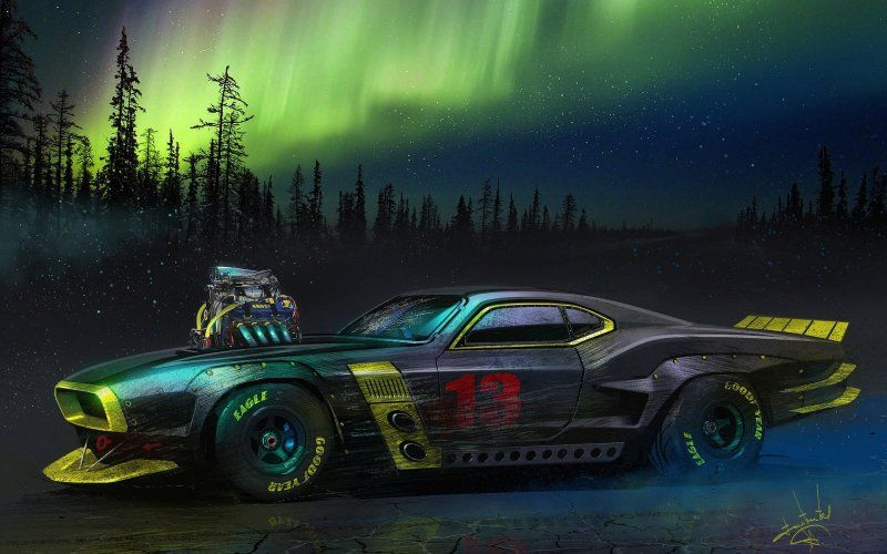 Desktop Wallpaper Muscle Car Artwork Hd Image Picture