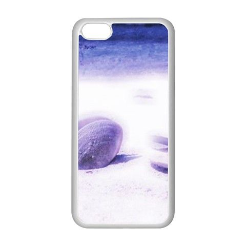Dreamy Seashells Blue Pastels Apple iPhone 5C Seamless Case (White)