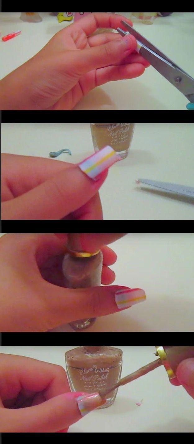 41 Creatively Clever Nail Art Hacks | Pinterest | Nail art hacks ...