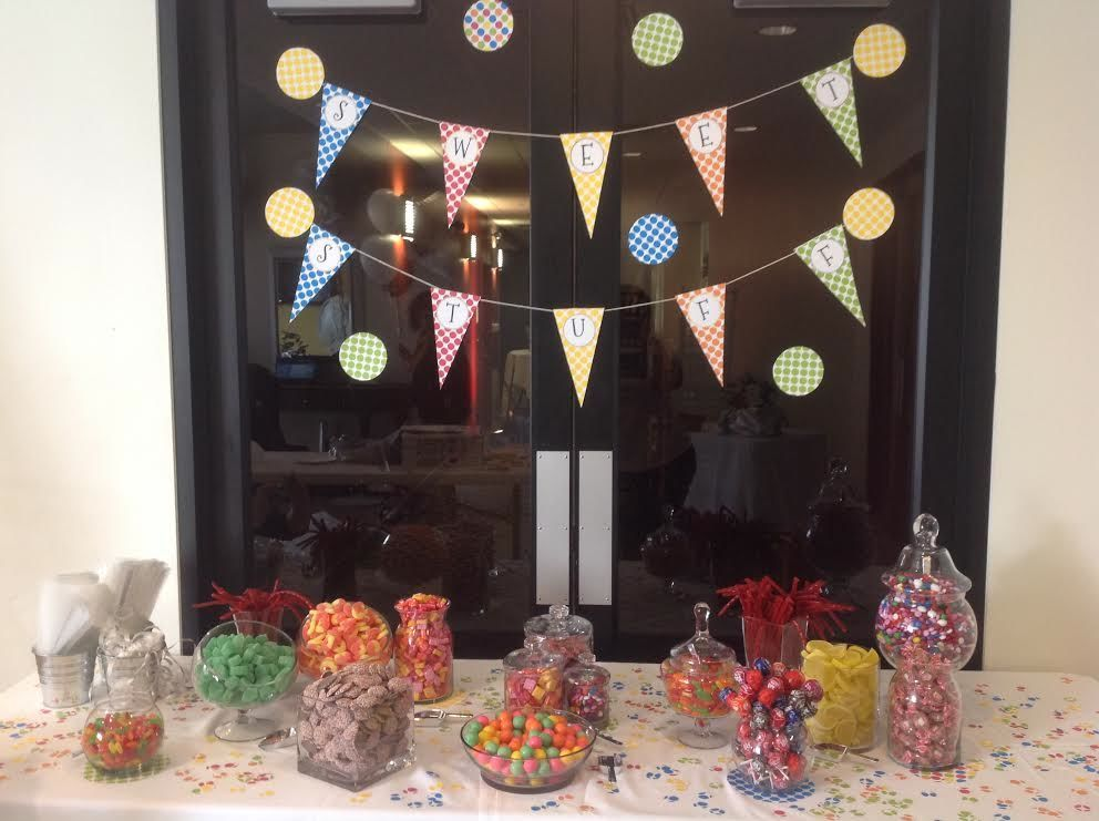 We did a really fun, easy candy buffet for my son's school fundraiser.