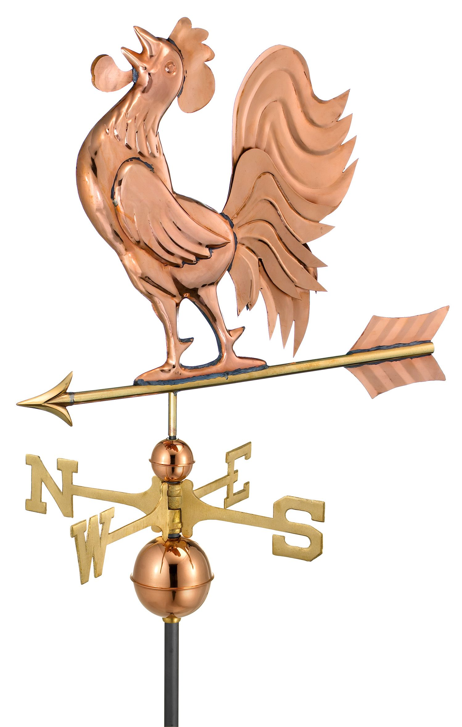 The Cockerel Rooster Chicken Standard Copper Weathervane Good Directions Weathervanes Rooster