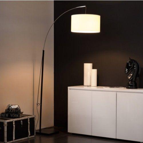 Maison Du Monde Torino.Lampadaire En Metal Et Coton Blanc H 202 Cm Torino Maisons