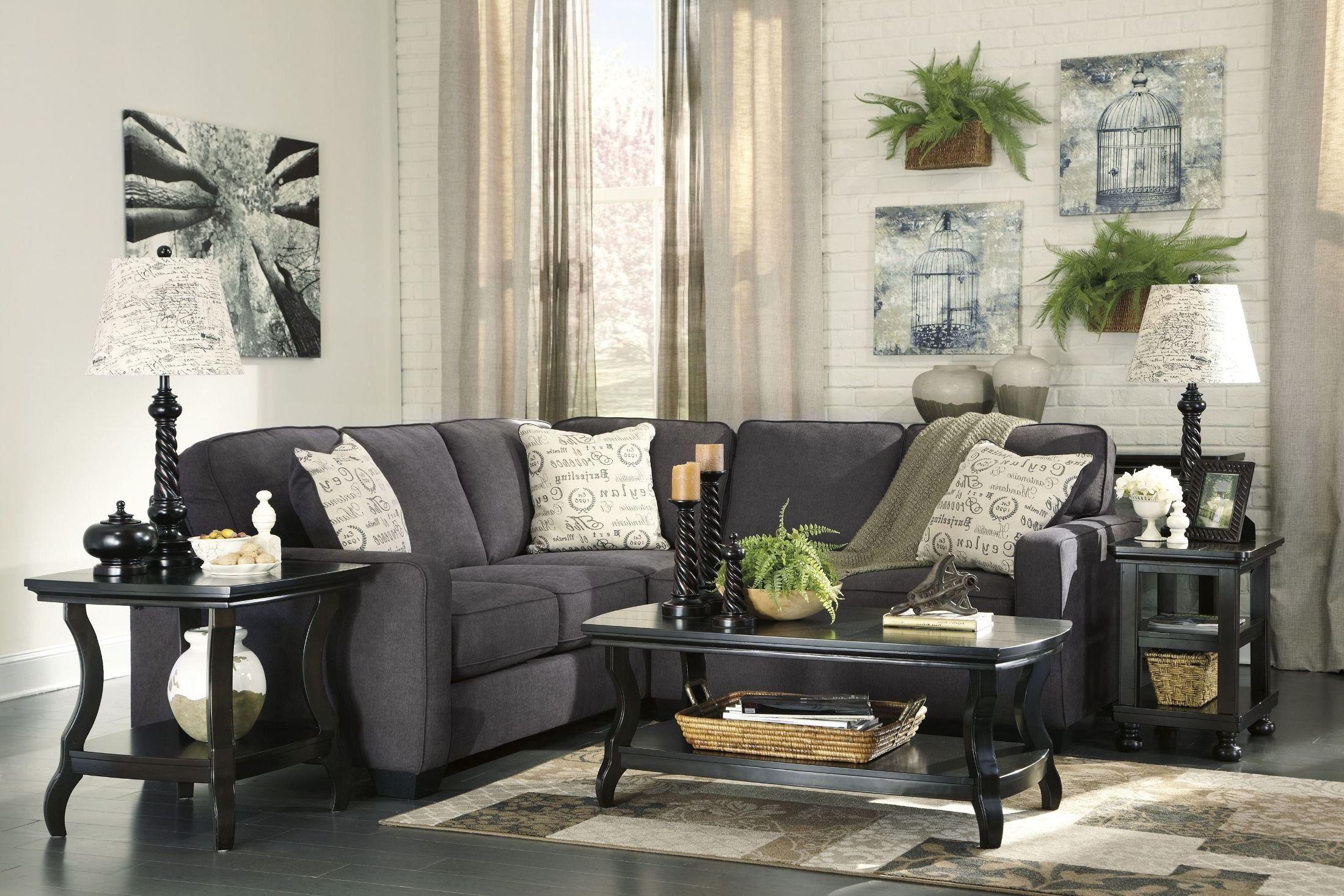 Alenya Charcoal Raf Sectional In 2021 Living Room Decor Charcoal Sectional Living Decor