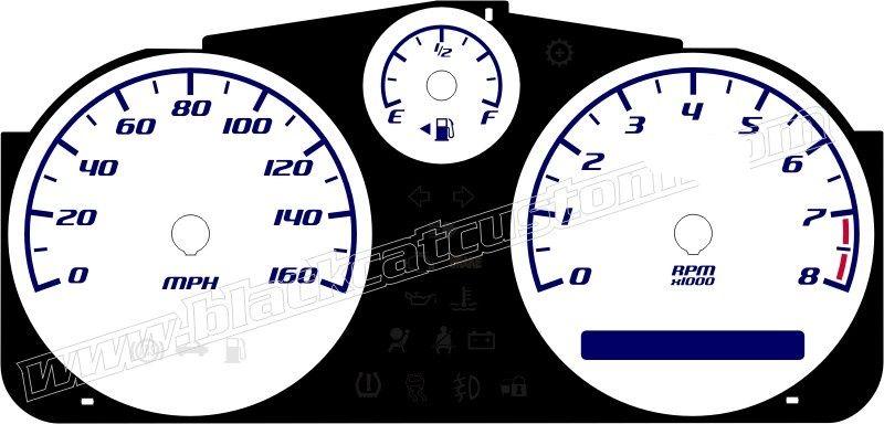Black Cat Custom Automotive - Pontiac Solstice Gauge Face