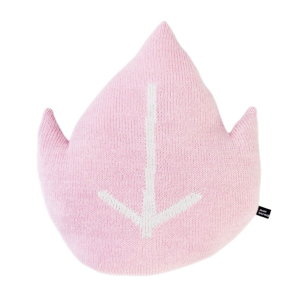 Main Sauvage Pink Leaf Pillow