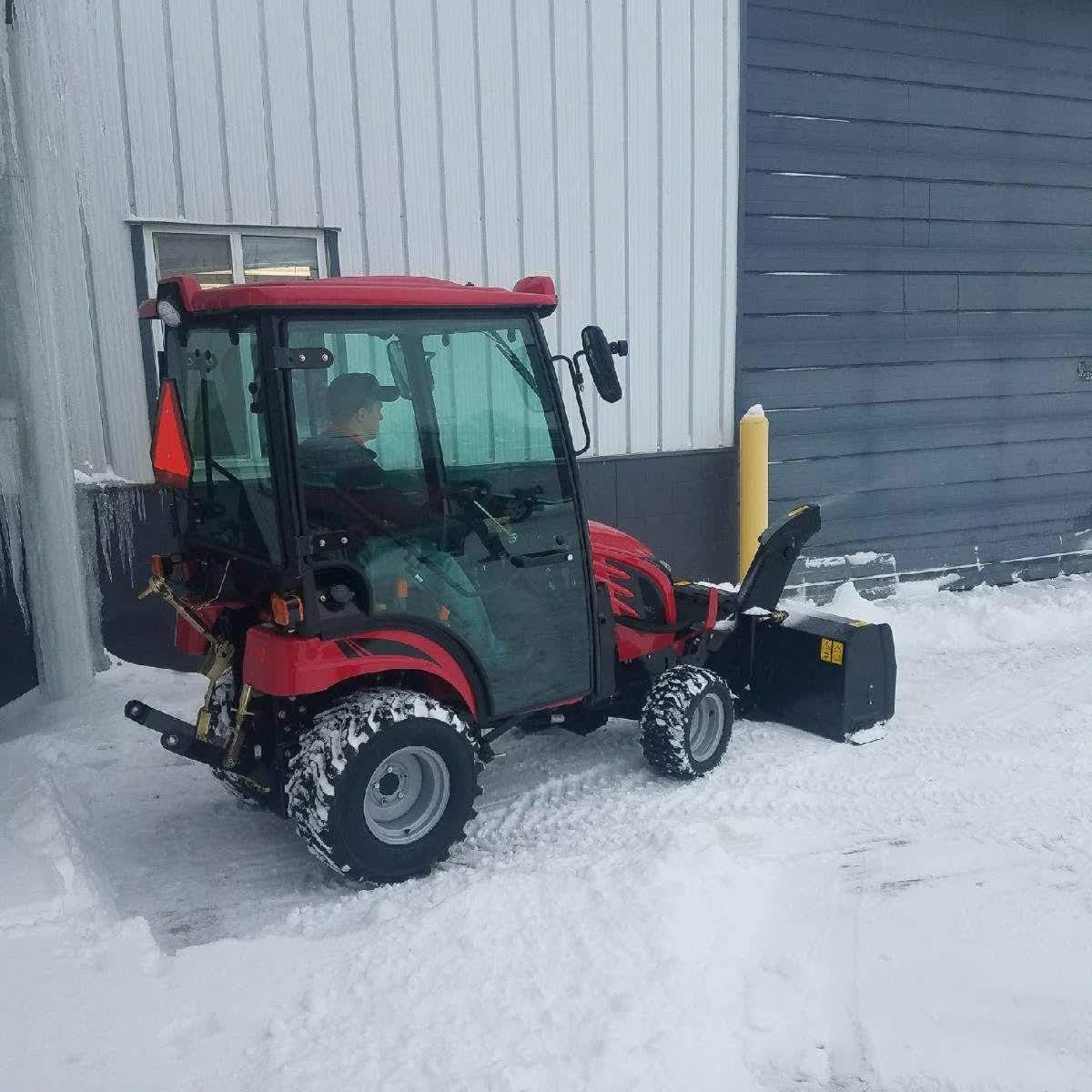 Winter Is Not Over Yet How Do You Clear The Snow Thanks To Ken Dawson For Sending Us This Picture Of A Mahindranorthamerica Emax Snow Blower Pictures Winter