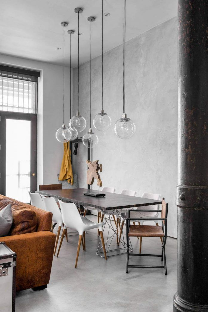 Dining Room New York Industrial Style Loft In The Heart Of New York City  Industrial