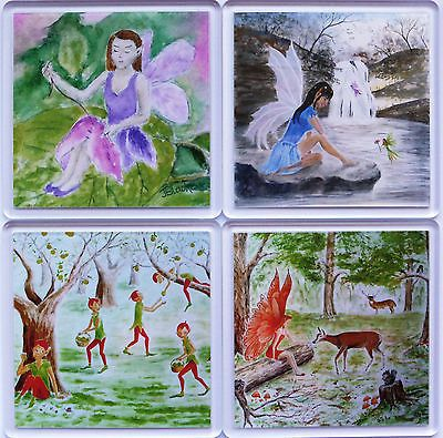 Set of 4 #coasters - #fantasy and fairies  from original #artwork.,  View more on the LINK: 	http://www.zeppy.io/product/gb/2/181893768848/