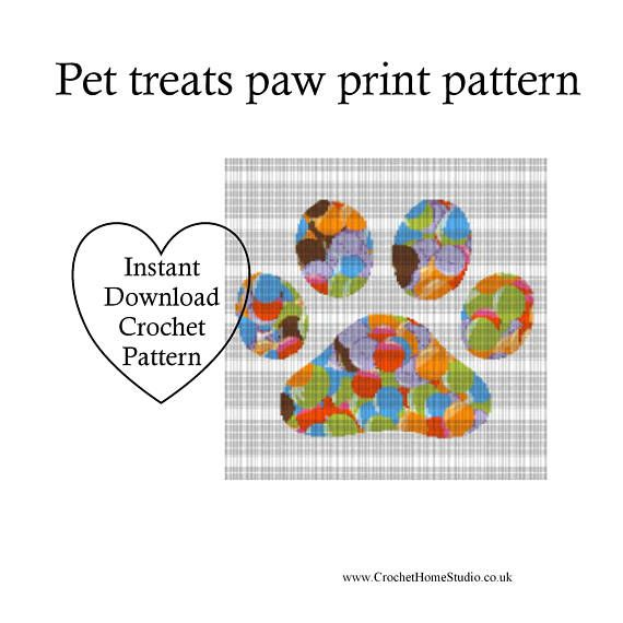 Paw print blanket Pet paw design Dog loss Cat loss Crochet | My ...