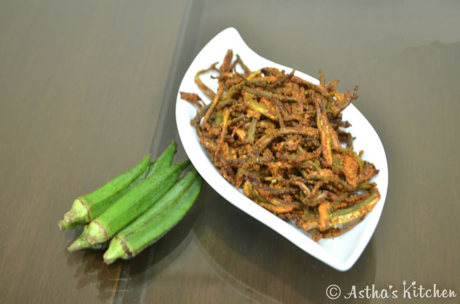 Kurkuri Bhindi (Okra) in Air Fryer Astha's Kitchen Air