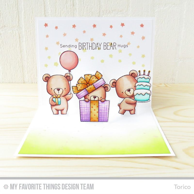 Beary Special Birthday Stamp Set and Die-namics, Pop-Up Elements Wide Die-namics - Torico #mftstamps