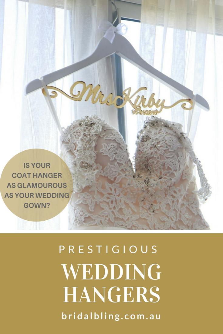 Gold Wedding Hangers, Personalised Wedding Coat Hangers, Wedding ...