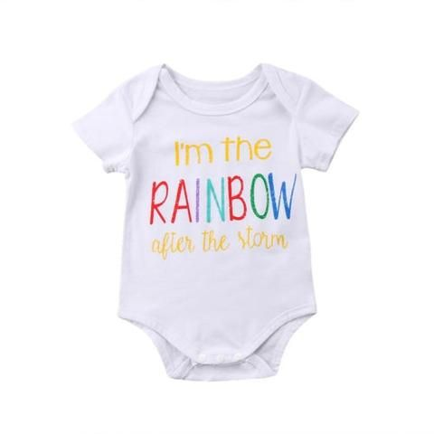 a72aa3c52407 0-18M Infant Baby Boys Girls Rainbow Romper Jumpsuit Summer Clothes ...