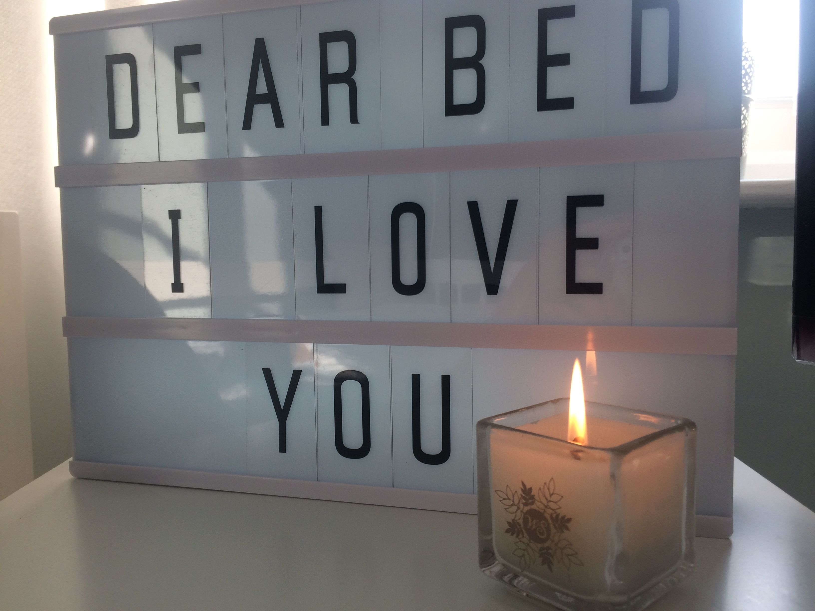 Dear Bed I Love You Lightbox Quote Really Cute Light Up