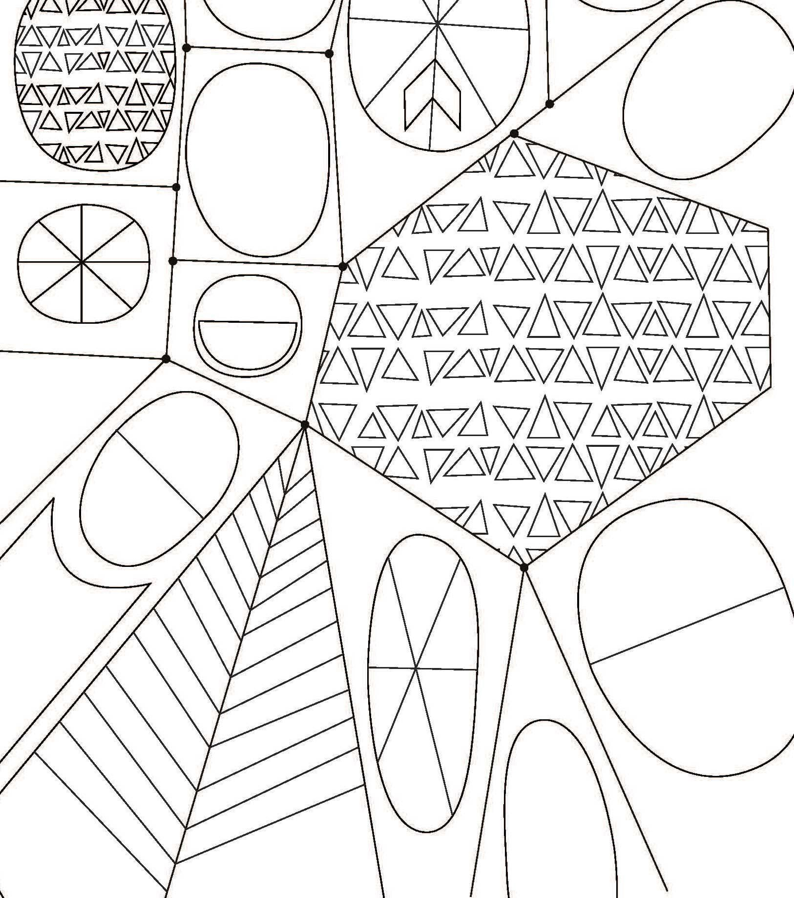 coloring book mid century modern - Modern Patterns Coloring Book
