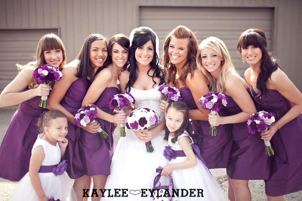 Lord Hill Farm Modern Fun Wedding | Purple and grey wedding ...