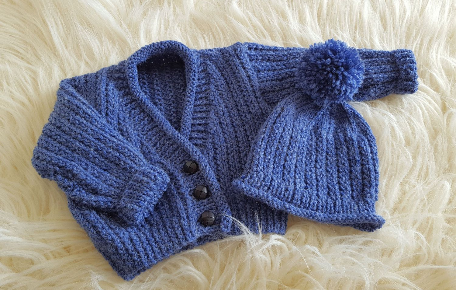 A Baby Knitting Pattern Boys Sweater Set - Instant ...