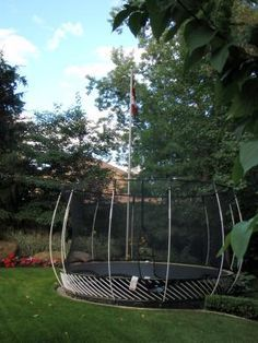 Image result for trampoline surrounded by woods